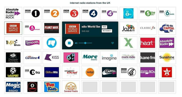 internet radio stations from the UK